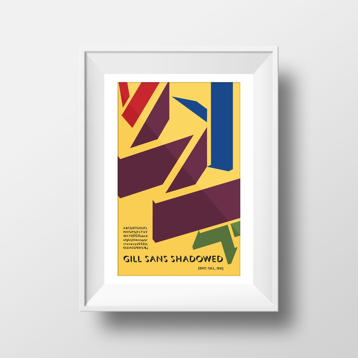 framed type poster