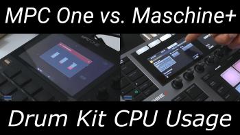 MPC One vs. Maschine Plus – CPU Use When Loading Kits