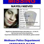 UPDATE! MISSING JUVENILE: 14 Year Old Nayeli Nieves has been located