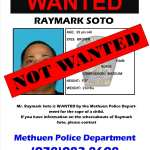 UPDATE: Raymark Soto Turned Himself Into The Methuen Police and Is No Longer Wanted