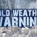 Cold Weather Advisory from the City of Methuen