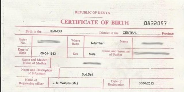 How To Retrieve Your Birth Certificate Online In Kenya