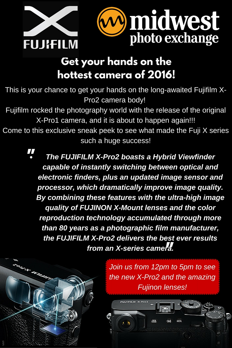 Fuji X-Pro2 Launch body