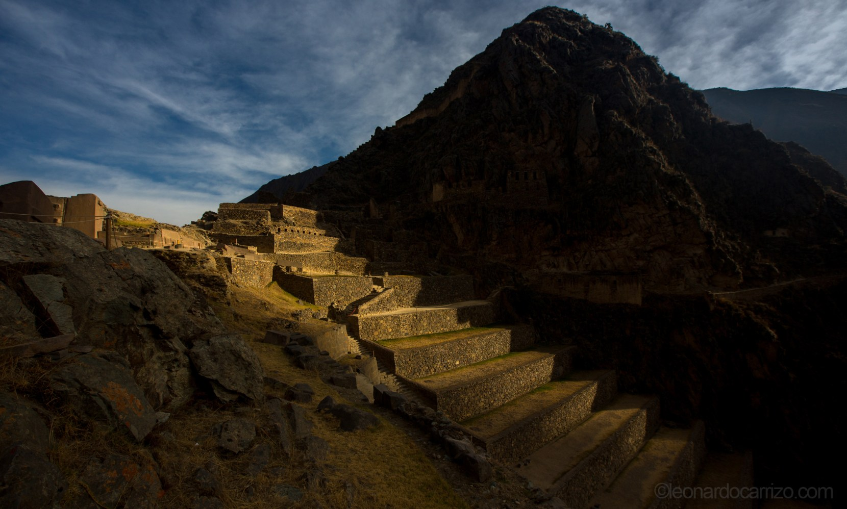 Ollantaytambo archeological site, Sacred Valley, Cusco, Peru. photo by Leonardo Carrizo
