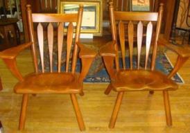 Cushman:Bennington VT paddle arm chairs 1651
