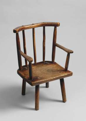 Delightful Primitive Comb Back Child's Windsor Armchair $5,500 u1_l