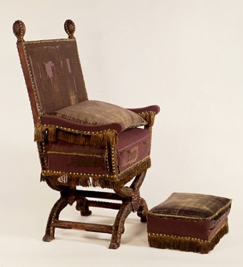 Victoria Albert William Juxon's Chair + Footstool