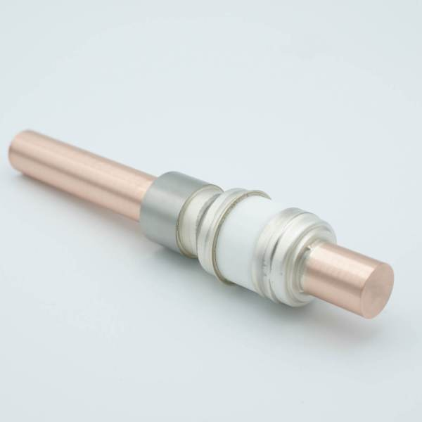 """Power Feedthrough, 8000 Volts, 800 Amps, 1 Pin, 0.75"""" Copper Conductor, 1.12"""" Dia Stainless Steel Weld Adapter"""