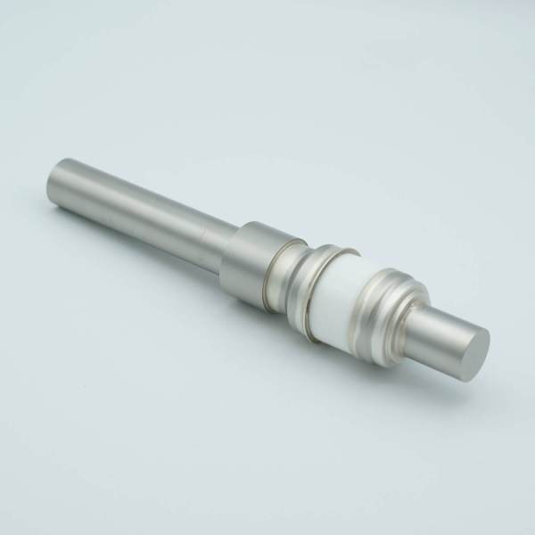 """Power Feedthrough, 8000 Volts, 250 Amps, 1 Pin, 0.75"""" Nickel Conductor, 1.12"""" Dia Stainless Steel Weld Adapter"""