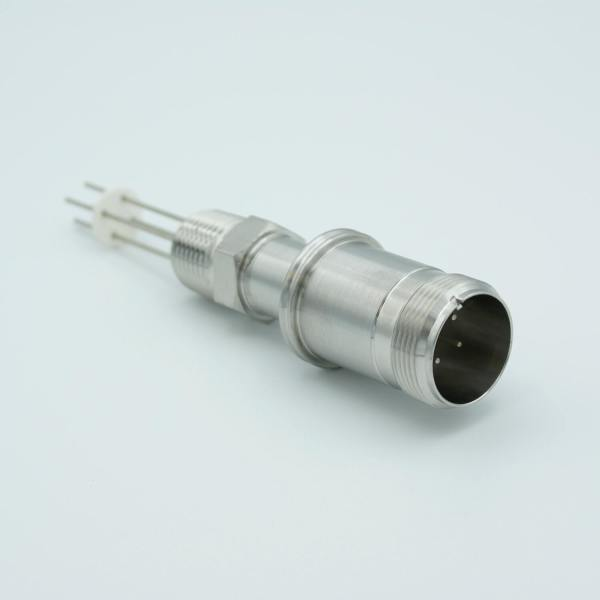 """MS Series, Multipin Feedthrough, 4 Pins, 700 Volts, 10 Amps per Pin, 0.056"""" Dia Conductors, w/ Air-side Connector, 0.5"""" NPT"""