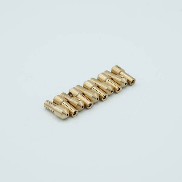 """Push-on Connectors, Beryllium-Copper alloy, 0.094"""" Dia Pin, Package of 10"""