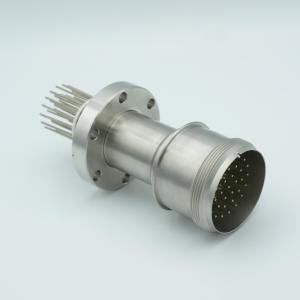 """MS Series, Multipin Feedthrough, 35 Pins, 700 Volts, 10 Amps per Pin, 0.056"""" Dia Conductors, w/ Air-side Connector, 2.75"""" Conflat Flange"""