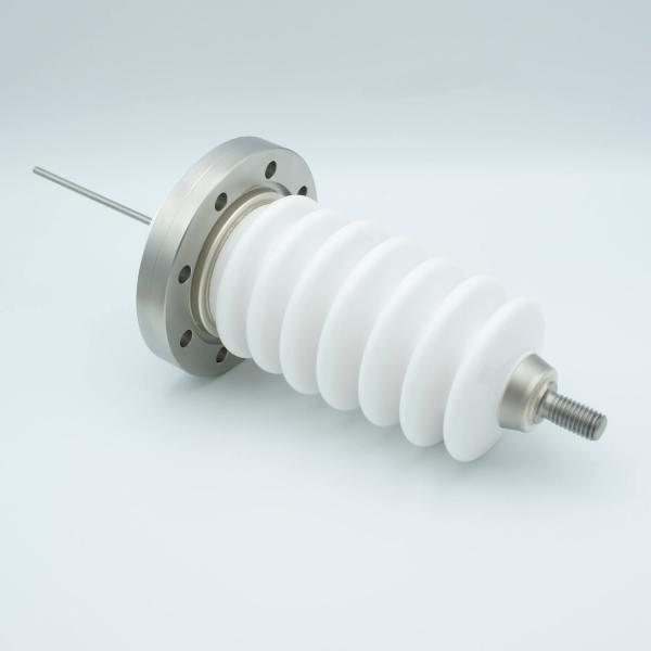 """Power Feedthrough, 60,000 Volts, 6.5 Amps, 1 Pin, 0.156"""" Stainless Steel Conductor, 4.5"""" Conflat Flange"""