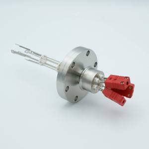 """Thermocouple Feedthrough, Type c, 3 Pairs, Miniature Connectors, 2.75"""" Conflat Flange"""
