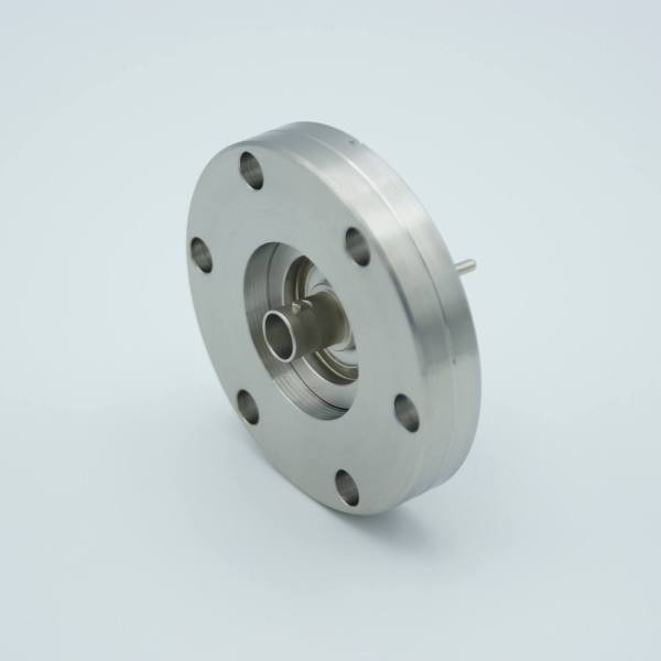 """MPF - A0304-2-CF BNC Coaxial Feedthrough, 1 Pin, Floating Shield, 2.75"""" Conflat Flange, Without Air-side Connector"""
