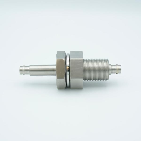 """MPF - A0484-3-BP BNC Coaxial Feedthrough, 1 Pin, Grounded Shield, Double-Ended, 1.0"""" Baseplate Bolt"""