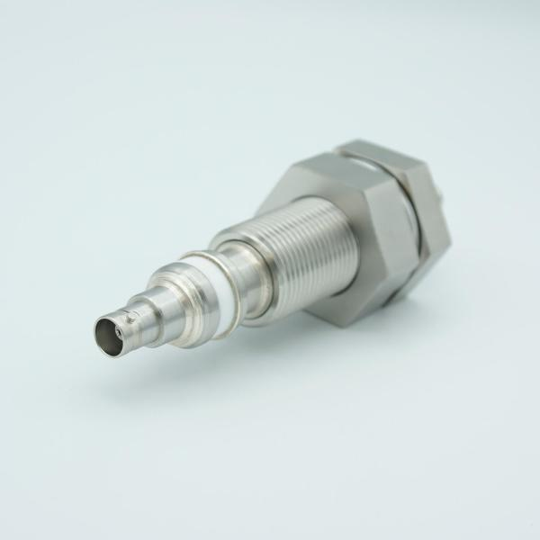 """MPF - A0487-1-BP BNC Coaxial Feedthrough, 1 Pin, Floating Shield, Double-Ended, 1.0"""" Baseplate Bolt"""