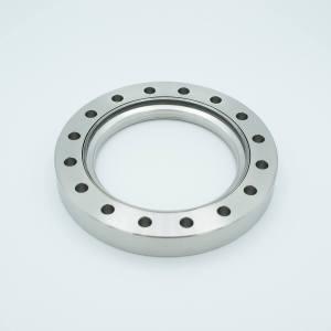 UHV Viewport, All Titanium UV Grade Fused Silica, Zero Length Profile, 3.88″ View Dia, 6.00″ Conflat Flange