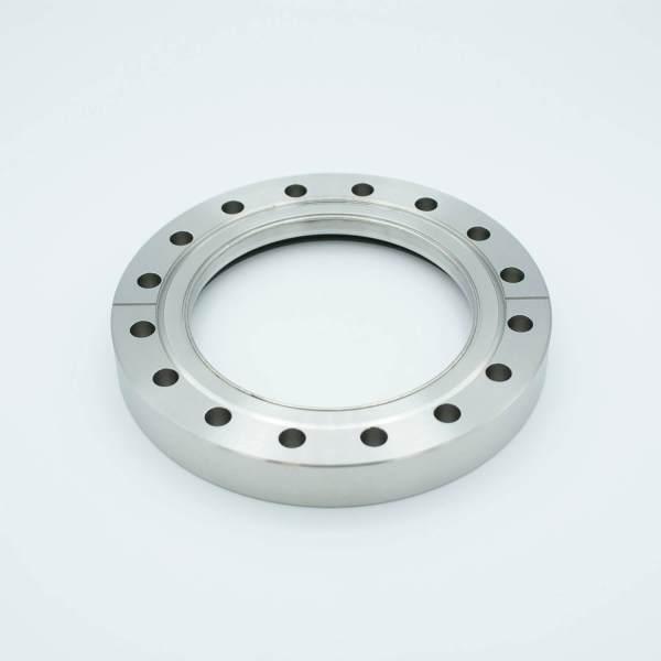"UHV Viewport, DUV Grade (Laser) Fused Silica, Zero Length Profile, 3.88"" View Dia, 6.00"" Conflat Flange"