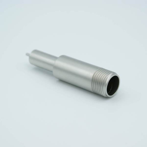 """MPF - A0836-1-W SHV-B (Bakeable) Coaxial Feedthrough, 1 Pin, Grounded Shield, 0.495"""" Dia SS Weld Adapter"""