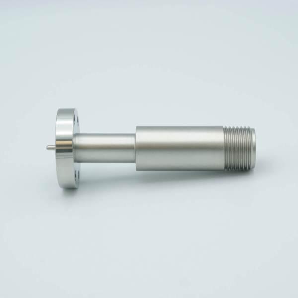 """MPF - A1051-1-CF SHV-B (Bakeable) Coaxial Feedthrough, 1 Pin, Grounded Shield, 1.33"""" Conflat Flange"""