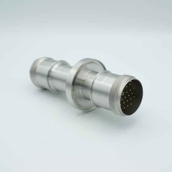 """MS Series, Thermocouple Feedthrough, Type E, 10 Pairs, Double-Ended w/ Air & Vacuum-side Connectors, 2.50"""" Dia Stainless Steel Weld adapter"""