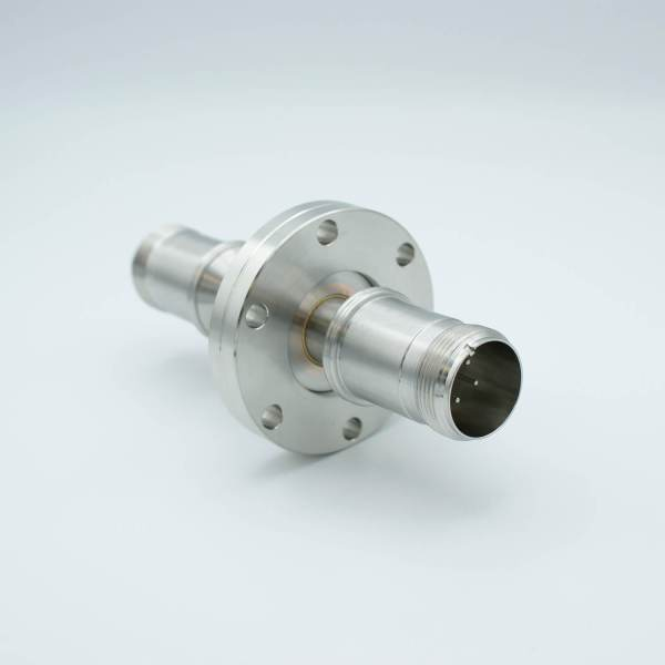 """MPF - A1323-1-CF MS Series, Thermocouple Feedthrough, Type E, 2 Pairs, Double-Ended w/ Air & Vacuum-side Connectors, 2.75"""" Conflat Flange"""