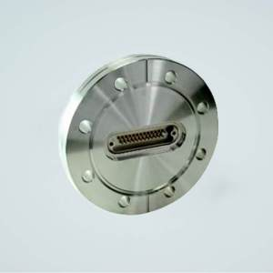 """MPF - A1557-3-CF Subminiature D-type Multipin Feedthrough, 25 Pins, 500 Volts, 5 Amps per Pin, 4.50"""" Conflat Flange"""