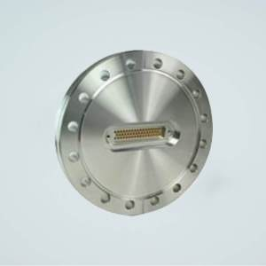 """MPF - A1557-4-CF Subminiature D-type Multipin Feedthrough, 50 Pins, 500 Volts, 5 Amps per Pin, 6.00"""" Conflat Flange"""