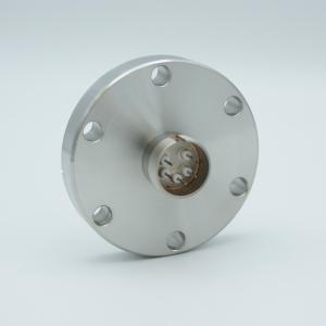 """Multipin Feedthrough, 5 Pins, 500 Volts, 3.5 Amps per Pin, 0.032"""" Dia Conductors, 2.75"""" Conflat Flange"""