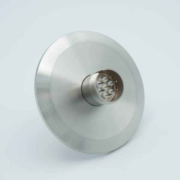 """Multipin Feedthrough, 7 Pins, 500 Volts, 3.5 Amps per Pin, 0.032"""" Dia Conductors, 2.95"""" QF / KF Flange"""