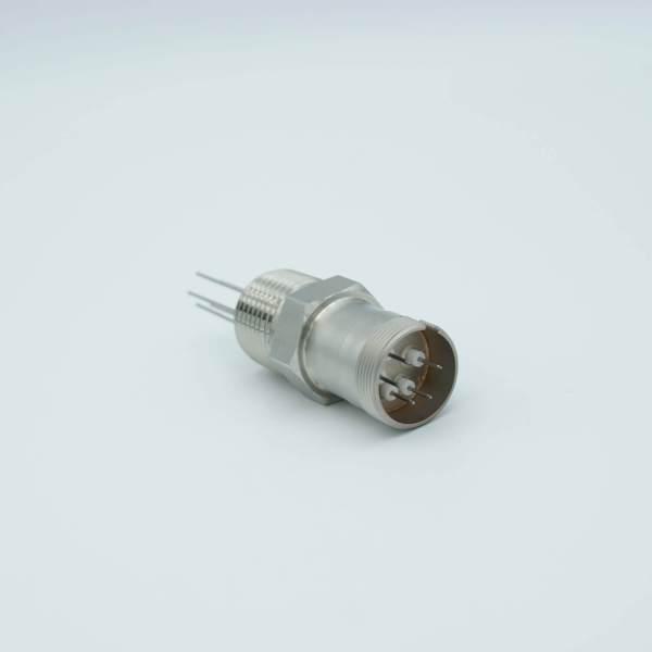 """Multipin Feedthrough, 5 Pins, 500 Volts, 3.5 Amps per Pin, 0.032"""" Dia Conductors, 0.5"""" NPT"""