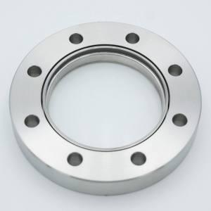 "UHV Viewport, All Titanium DUV Grade (Laser) Fused Silica, Zero Length Profile, 2.69"" View Dia, 4.50"" Conflat Flange"