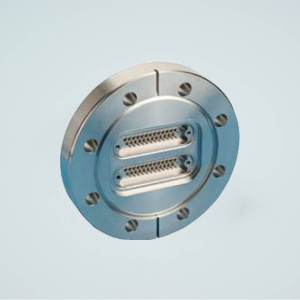 """MPF - A2565-1-CF Subminiature D-type Multipin Feedthrough, 2 x 25 Pins, 500 Volts, 5 Amps per Pin, 4.50"""" Conflat Flange"""