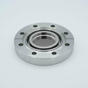 """UHV Viewport, Germanium (Ge), UHV Rated Vacuum-Optics, 1.88"""" View Dia, 4.50"""" Conflat Flange"""