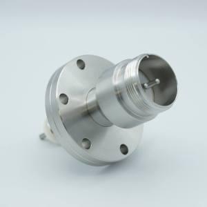 "MPF - A5077-1-CF MS High Current Series, Multipin Feedthrough, 2 Pins, 700 Volts, 40 Amps per Pin, 0.142"" Moly Conductors, 2.75"" Conflat Flange"