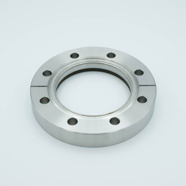 """UHV Viewport, DUV Grade (Laser) Fused Silica w/ Broadband AR Coating for 550-1100nm, 2.69"""" View Dia, 4.50"""" Conflat Flange"""
