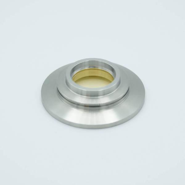 "UHV Viewport, Magnesium Fluoride (MgF2), UHV Rated Vacuum-Optics, 0.90"" View Dia, 2.16"" QF / KF Flange"