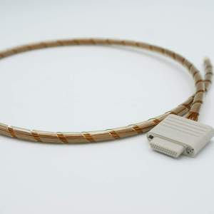 """Micro-D Connector, In-Vacuum, 25 Pins, Peek Insulator, Kapton Insulated Wire, 24"""" Cable"""