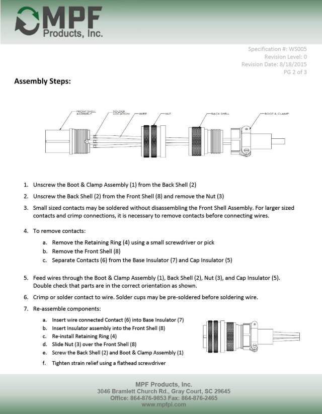 MS Style Connector Assembly Instructions