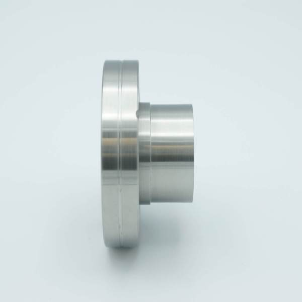 """MPF - A19422-1-CF: Laser Grade Fused Silica Viewport, Re-entrant Design, .75"""" In-Vacuum Length, 1.33"""" View Dia, 2.75"""" Conflat Flange"""