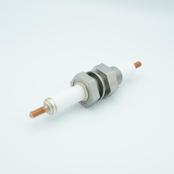 """MPF - A4475-2-BP: E-Beam High Power Feedthrough, 12,000 Volts, 1 Pin, 1"""" Baseplate Bolt"""