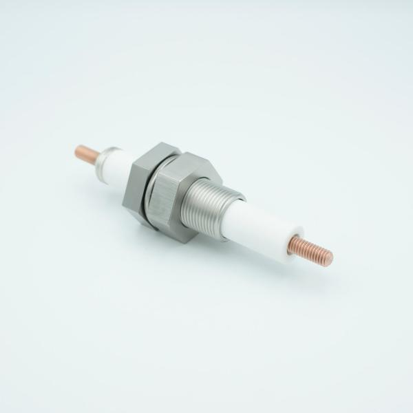 """E-Beam High Current Feedthrough, 20KV, 750 Amps, 1"""" Baseplate Assembly"""