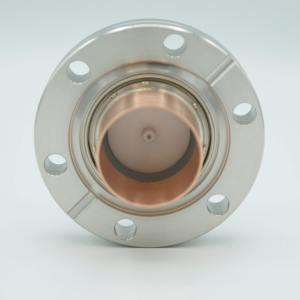 """200 Ohm Coaxial Feedthrough, 1 Pin, Floating Shield, 2.75"""" Conflat Flange, UHV Compatible"""