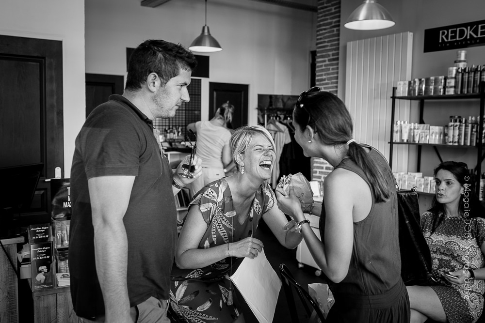 Préparatifs Salon de coiffure Atmosp'haire à Caen