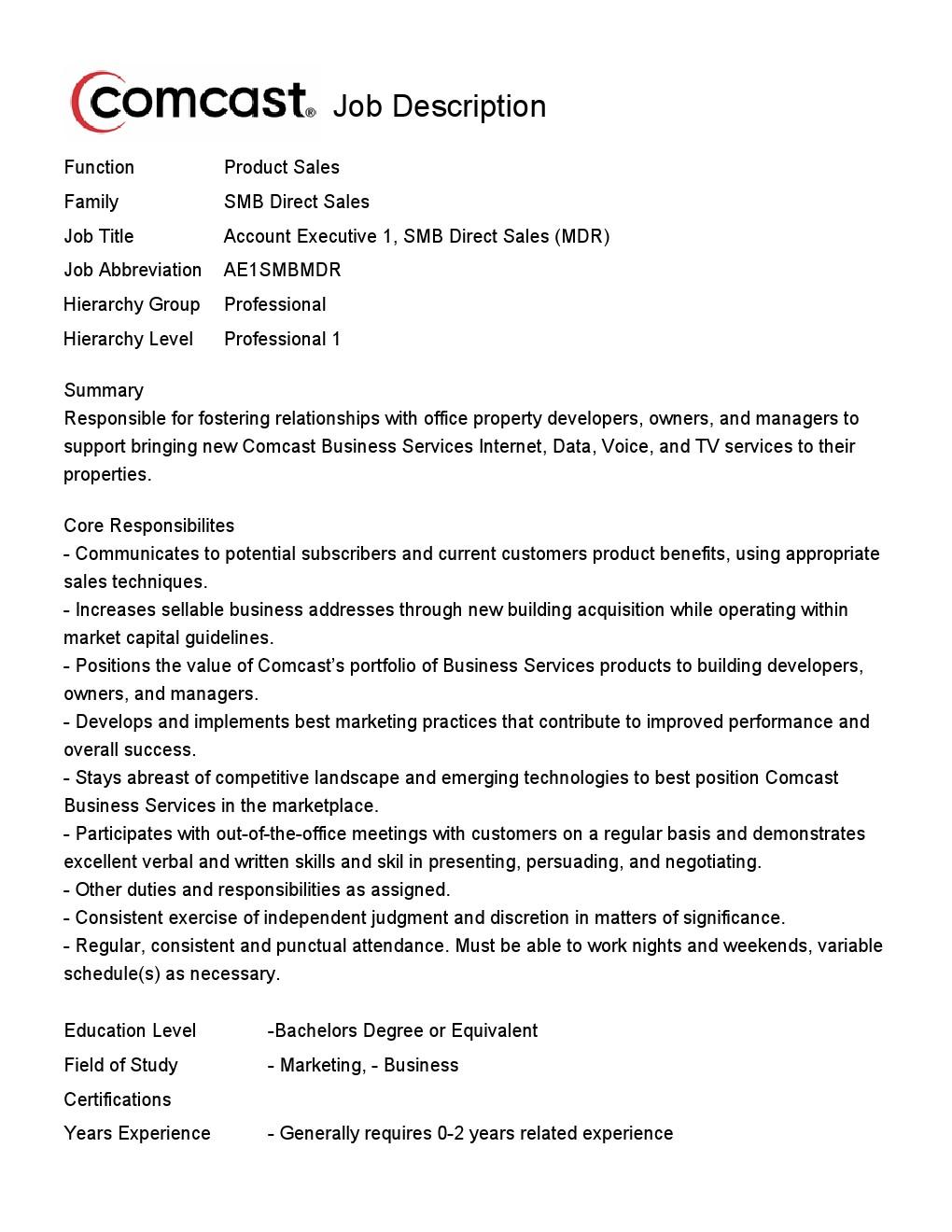 www comcast jobs com all jobs acct exec 1 smb direct mdr 134116