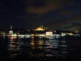 The Suleymaniye at night