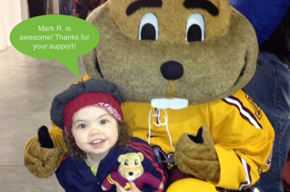 Cora with Goldy 2014 Sustainers copy
