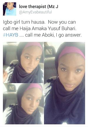 31 Igbo Girl Turns Hausa for Buhari's Hot Son, Yusuf