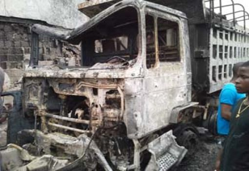 Burnt-vehicle-during-fuel-tanker-explosion_510x350 Petrol Tanker Accident takes lives of over 65 Persons in Onitsha   Photos